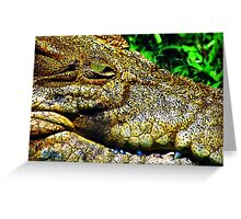 Crocodile Smile Greeting Card