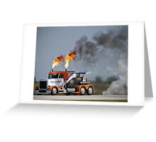 """""""""""Go Fast Truck"""" Greeting Card"""
