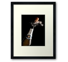 Celebration Theme With Splashing Champagne Framed Print