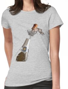 Celebration Theme With Splashing Champagne Womens Fitted T-Shirt