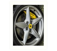 Ferrari Wheel and Tyre  Art Print