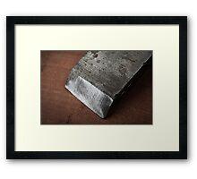 Chiseled edge Framed Print