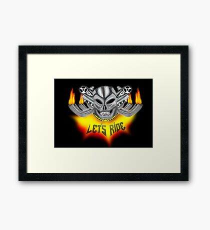 pedal to the metal Framed Print