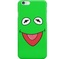 kermit face iPhone Case/Skin