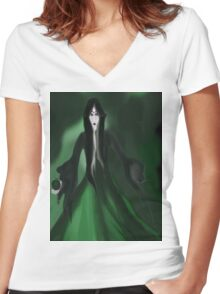 The Green Apple Women's Fitted V-Neck T-Shirt