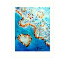 The Heart of the Great Barrier Reef Art Print