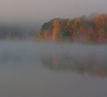 fall mist on the lake by 1busymom
