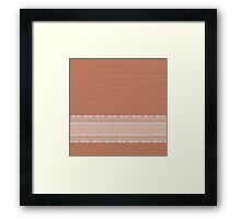 Ripple Spice with White Lace Framed Print