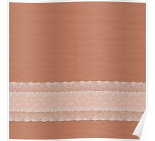 Ripple Spice with White Lace Poster