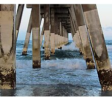 Waves Under The Pier Photographic Print