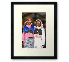 African School Girls Framed Print