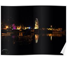Tobermory Bay At Night Poster