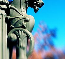 Its My Lamp - A Gothic Dragon Lamp Post by Ross Jardine