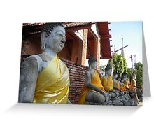 Buddhas in Gold Greeting Card