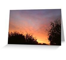Sunset at Ascot Station Greeting Card