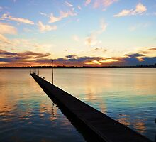 Colours of the Swan-Como Beach Jetty,Swan River by Grin