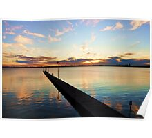Colours of the Swan-Como Beach Jetty,Swan River Poster