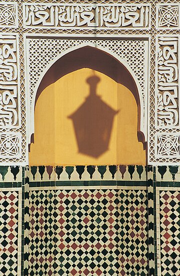 Shadow of Lantern, Mausoleum of Moulay Ismail, Meknes  by Petr Svarc