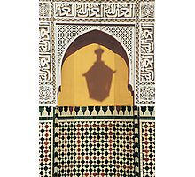 Shadow of Lantern, Mausoleum of Moulay Ismail, Meknes  Photographic Print