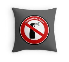 Chemical Free Home Throw Pillow