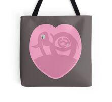 Pregnant Elephant | Heart Tote Bag