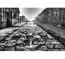 The road to Pompei Photographic Print