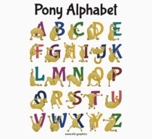 Pony Alphabet Chart, Colourful T-Shirt