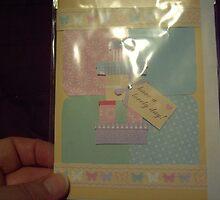 Handmade patchwork type effect card by anaisnais