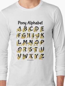 Pony Alphabet, Pink Long Sleeve T-Shirt