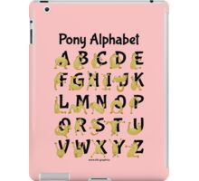 Pony Alphabet, Pink iPad Case/Skin