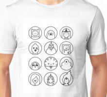 Adventure Time Black & White Unisex T-Shirt