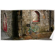 Green Bicycle  Poster
