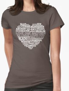 The Controversial Heart - white Womens Fitted T-Shirt