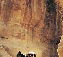 Cart in Siq, Petra, Jordan by Petr Svarc