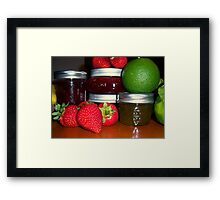 Canning Time Framed Print