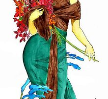 Lady in Mucha's style by Norbert Kiss