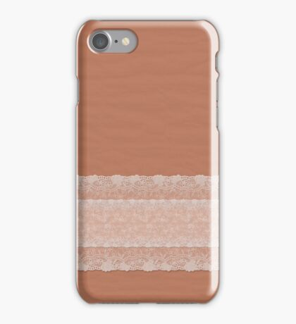 Ripple Spice with White Lace iPhone Case/Skin