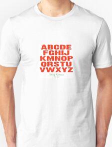 Christmas Alphabet T-Shirt