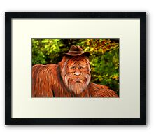 Bigfoot Cowboy Framed Print