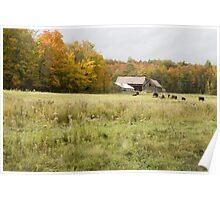 Old farm landscape 2 Poster