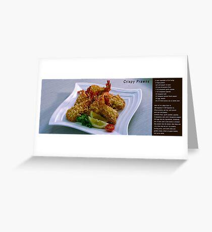 Crispy Prawns with recipe Greeting Card