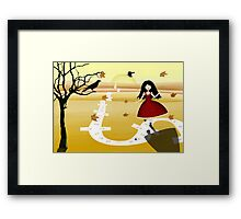 Life is a game Framed Print
