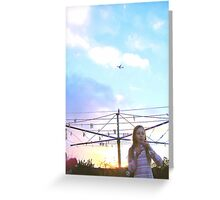 sky so much sky Greeting Card