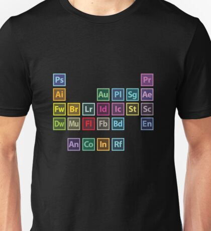 Adobe Table of Elements Unisex T-Shirt