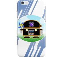 bit.bots JET BLACK PINWHEEL iPhone Case/Skin