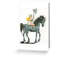 axe maiden Greeting Card