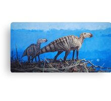 Cretaceous Overlook - Brachylophosaurus Canvas Print