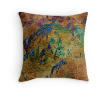 Difference-Texture over leaf Throw Pillow