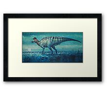 Prairie Moon - Corythosaurus Framed Print