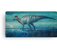 Prairie Moon - Corythosaurus Canvas Print